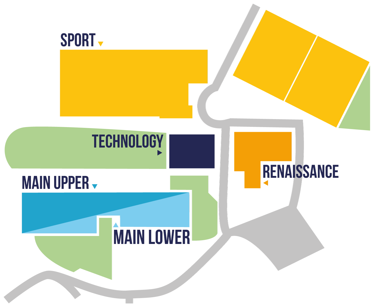 Map of The Deanes Academy